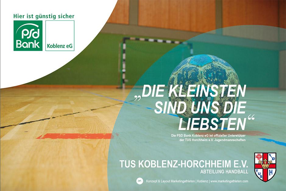 Banner TUS Horchheim gemeinsam mit der PSD-Bank Koblenz