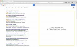 Google Adwords rechte Spalte